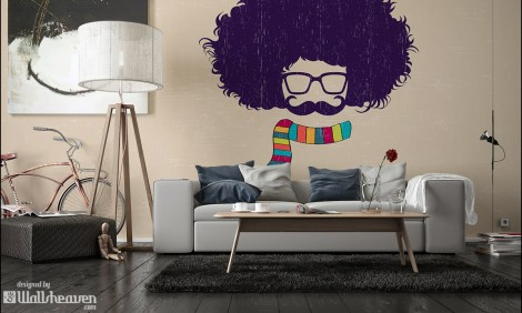 Real Afro on the Wall