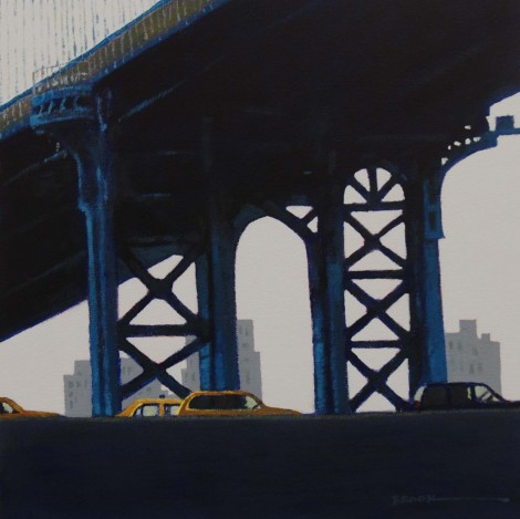 Manhattan Bridge  Acrylic on canvas  12ins x 12ins