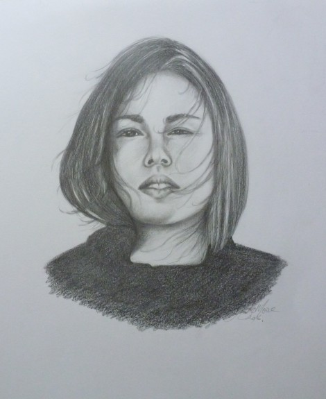 One Person Portrait - Pencil on Paper