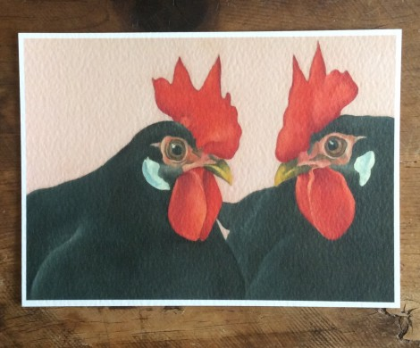 the gossips the leghorn chickens painting