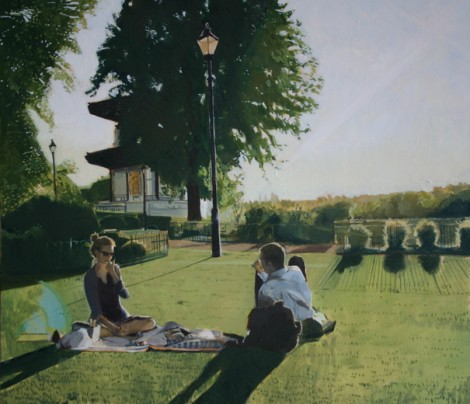 Picnic by the pagoda