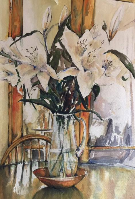 Lillies In The Dining Room