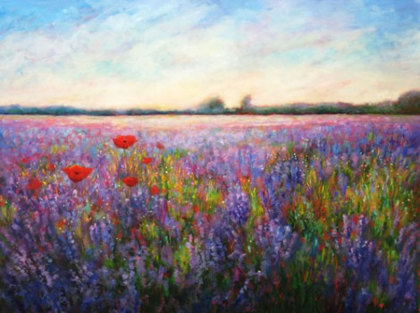 Lavender and Poppies