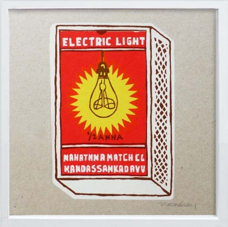 Electric Light Match boxes