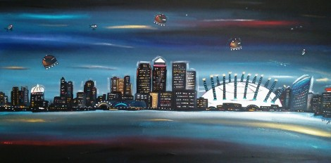 New night time Canary Wharf