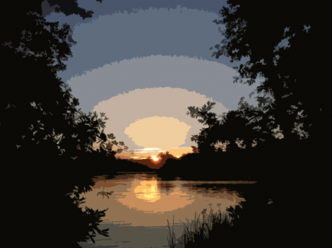 Sunset By The River