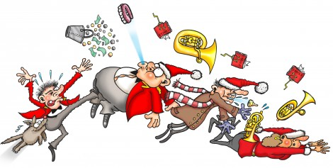 Christmas Brass Band Cartoon