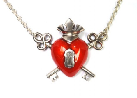 Crown heart and keys
