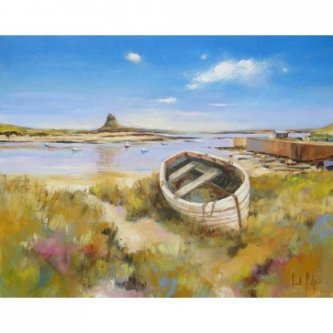 Boats in the Bay Holy Island