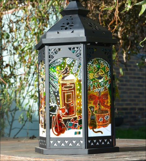 Christmas Cats Candle Lantern - Christmas Postbox - Partridge In a Pear Tree Hanging Lantern