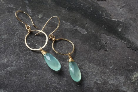 Onion hoop earrings gold filled