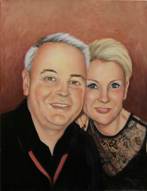 Couple Portrait - Oil on Canvas