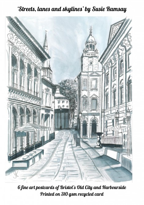 Box set of 6 fine art postcards from Streets lanes and skylines exhibition