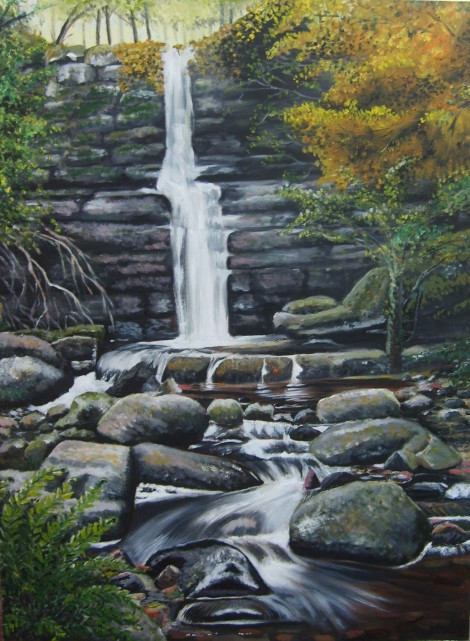 Welsh Forest Waterfall