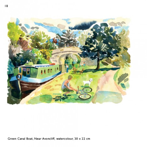Green Canal Boat Near Avoncliff